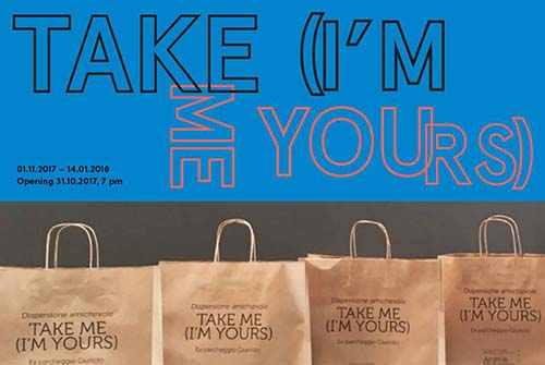 TAKE ME ( I'M YOURS ) come l'arte diventa interattiva