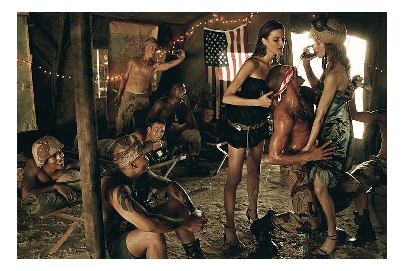 Photo by Steven Meisel, Vogue Italia September 2007, Make Love, Not War