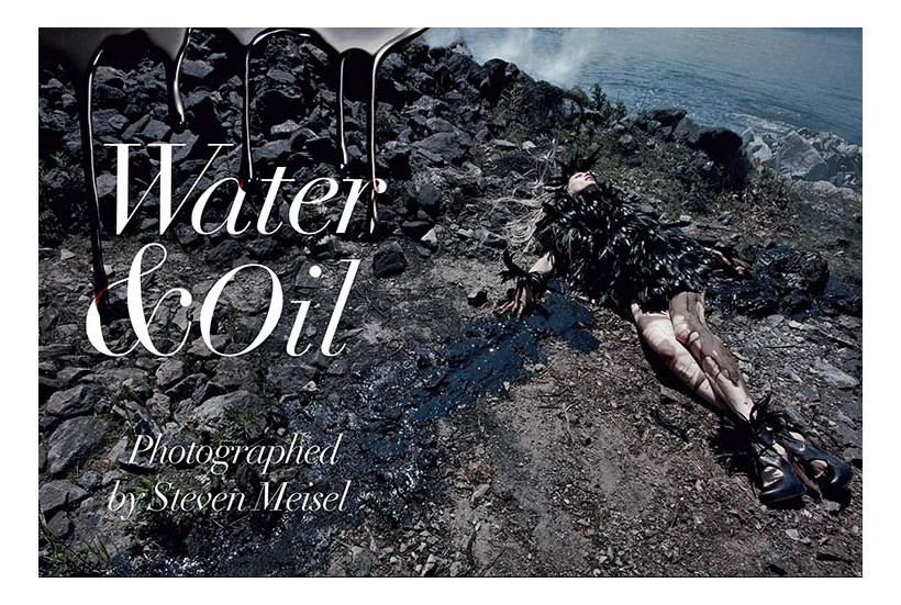 Photo by Steven Meisel, Vogue Italia August 2010, Water and Oil