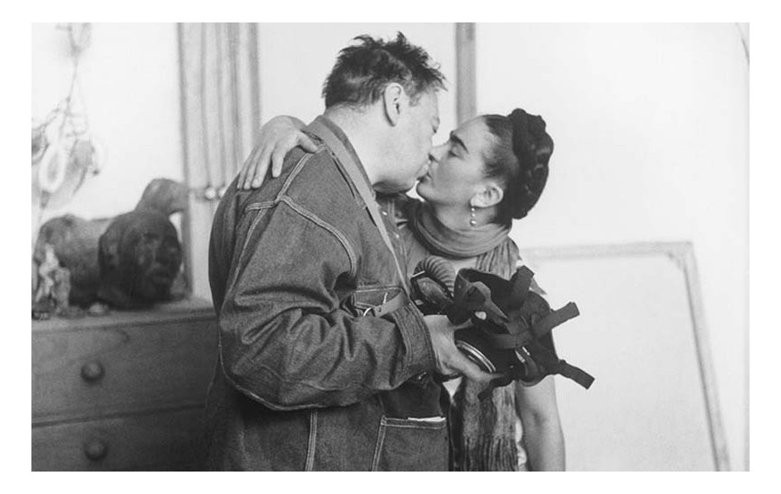 Frida Kahlo E Diego Rivera  by Nickolas Muray