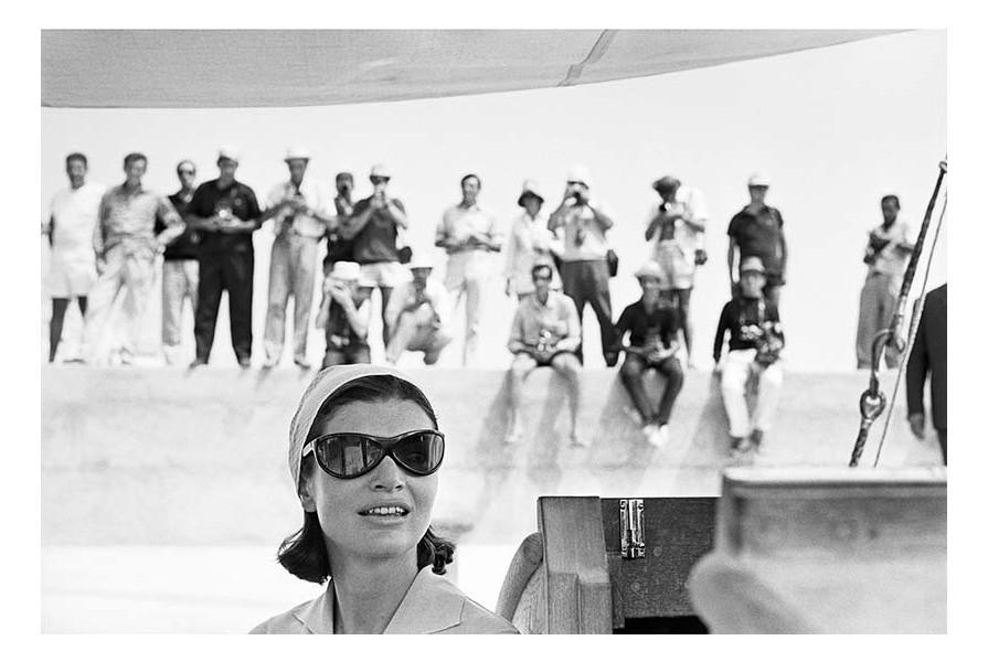 Benno Graziani, Jackie Kennedynet les paparazzi,  Amalfi août 1962