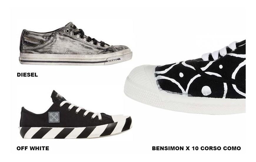 DIESEL,  OFF WHITE,  BENSIMON X 10 CORSO COMO